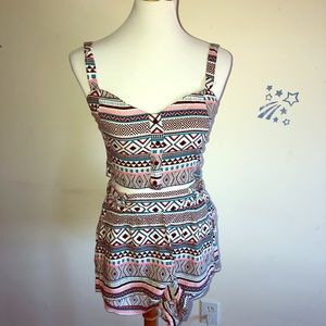 Aztec Print Two Piece Set